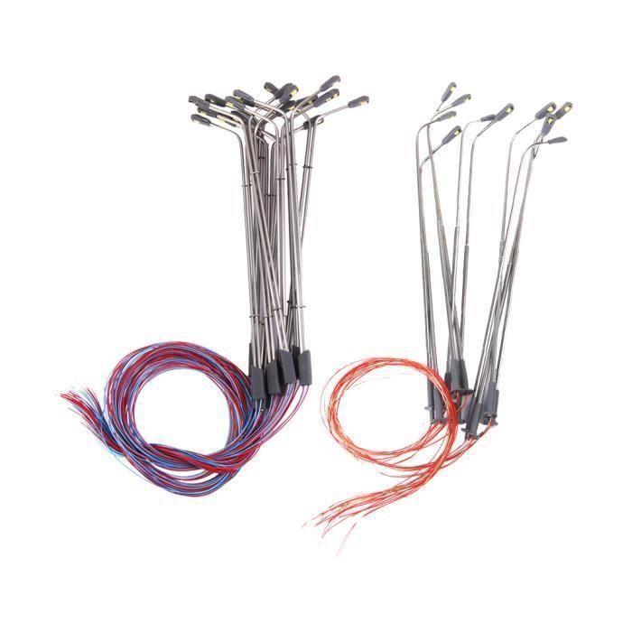 VEHICULE A CONSTRUIRE - ENGIN TERRESTRE A CONSTRUIRE Décor de réverbère de LED