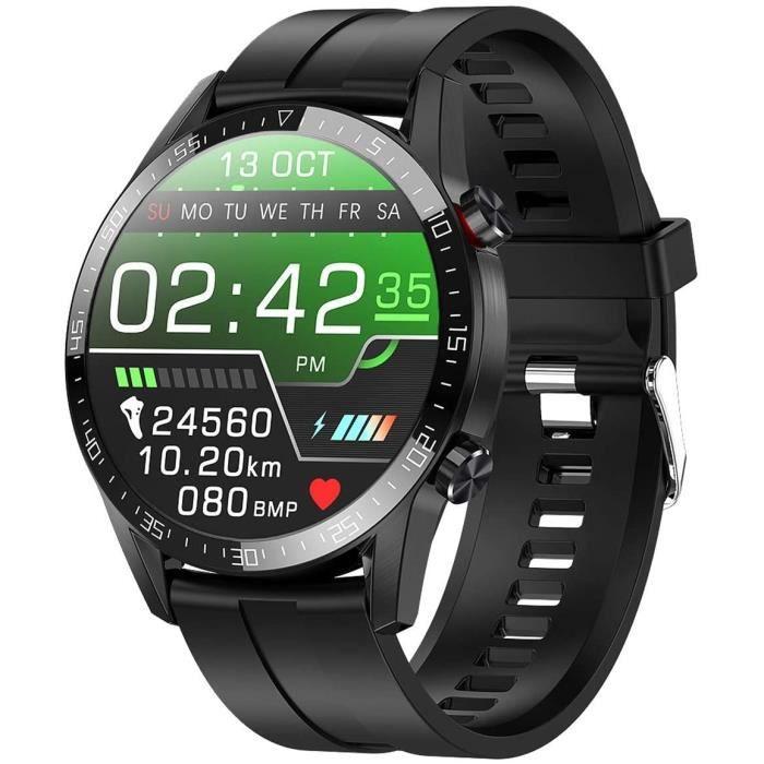 jpantech Montre Connectée,Montre Intelligente Homme IP68Etanche Bracelet Connecté Cardio Podometre Smartwatch Sport Fitness Tracker