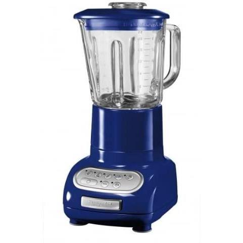 KitchenAid 5KSB5553EBU Blender/mixeur Verre de 1,5 L et Bol culinaire de 0,75 L-Blue Cobalt, Bleu