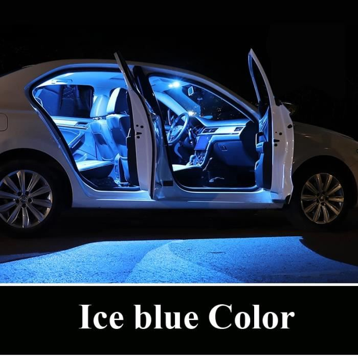 Zoomsee – Kit d'éclairage intérieur de voiture, pour Mercedes Benz MB C E S M classe W202 -ice blue-E W210 Sedan-17PC