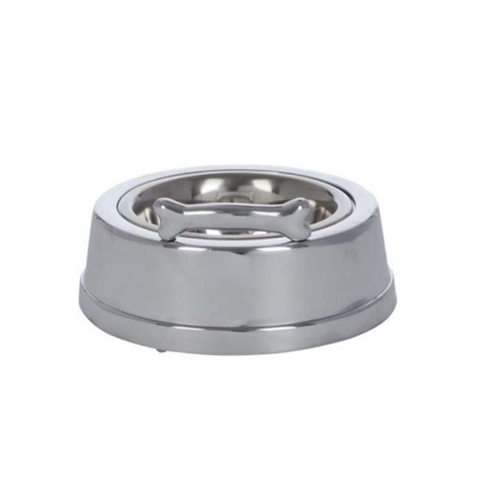 Gamelle chien aluminium 18x18x08 cm 18 cm Aluminium