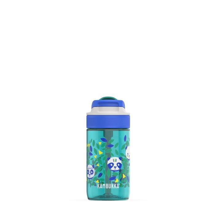 Kambukka gourde Lagoon Panda 400 ml silicone vert/bleu