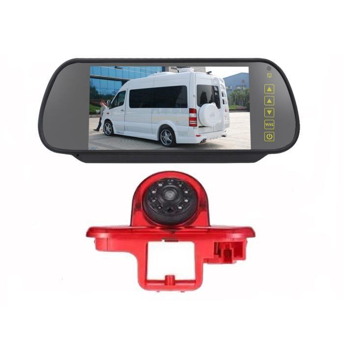 HD IR Night Vision 3ème feu stop Caméra de recul Caméra de recul étanche + Moniteur de recul arrière de 7,0 pouces pour Trafic (20