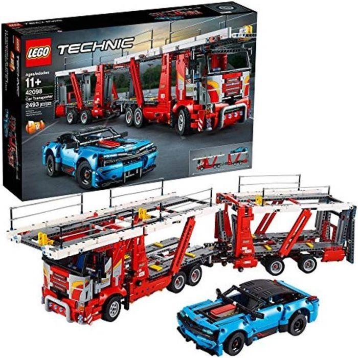 Jeu D'Assemblage C29B3 technic car transporter 42098 jouet camion et remorque ensemble de construction avec voiture bleue, meilleure