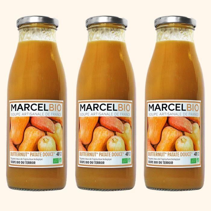 Marcel Bio - Soupe de Butternut & Patate Douce Bio 48cl - Pack de 3