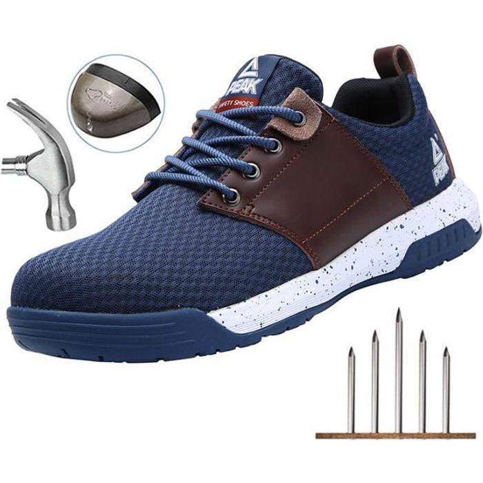 PEAK Chaussure de Securité Homme, Basket de Securite Chaussures de Travail avec Embout de Protection en Acier Respirables 36-48