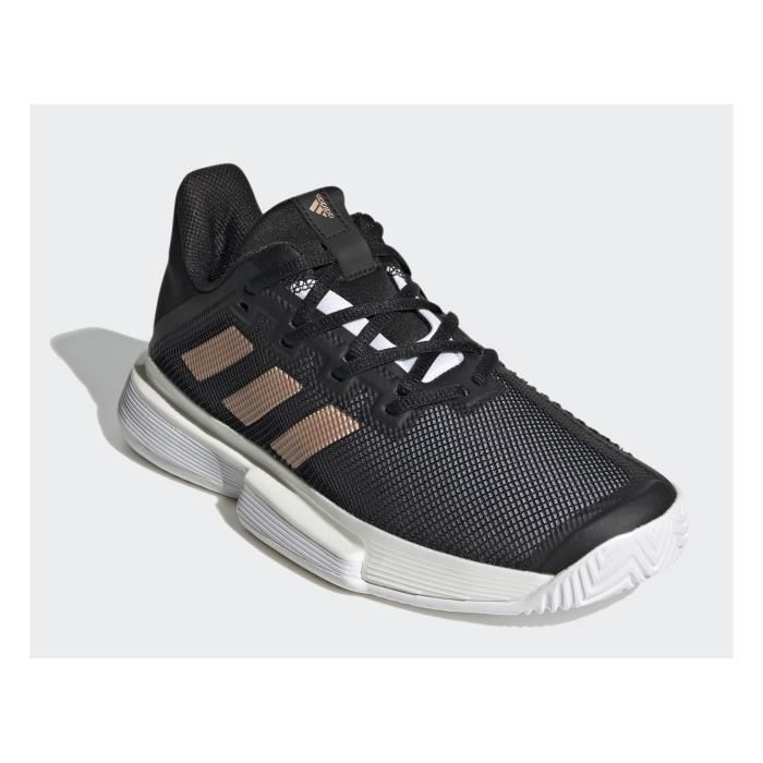 Chaussures ADIDAS Femme SoleMatch Bounce Noir / Or / Blanc AH 2020