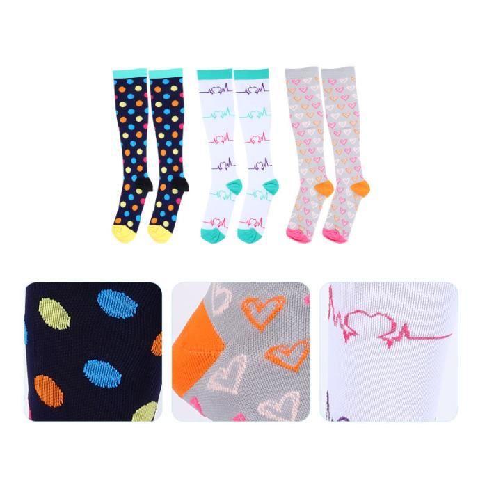 3 paires de bas de pratique chaussettes de chaussettes de recuperation - chaussettes de textile technique