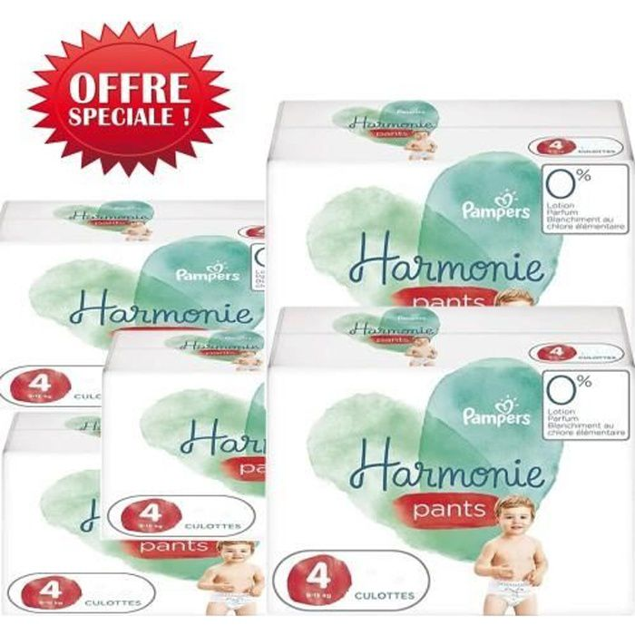 116 Couches Pampers Harmonie Pants taille 4