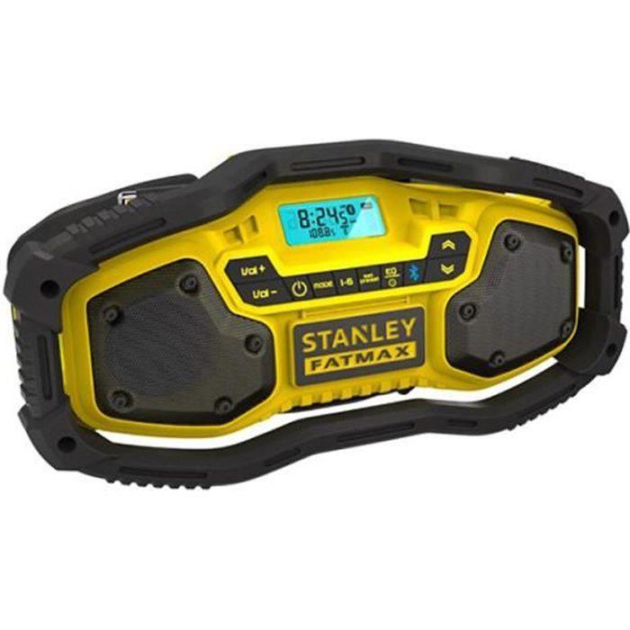 Stanley FMC770B Radio de Chantier Compacte Bluetooth 18V Li-Ion Accu Ou Réseau