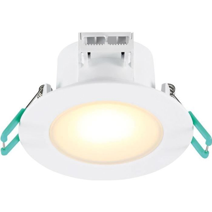SYLVANIA Lot de 3 spots LED encastrables de salle de bain - 6,5 W - 580 lm - IP65 - 4000 K