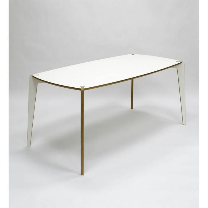 Table manger design istenso couleur blanc mat achat for Table blanc mat