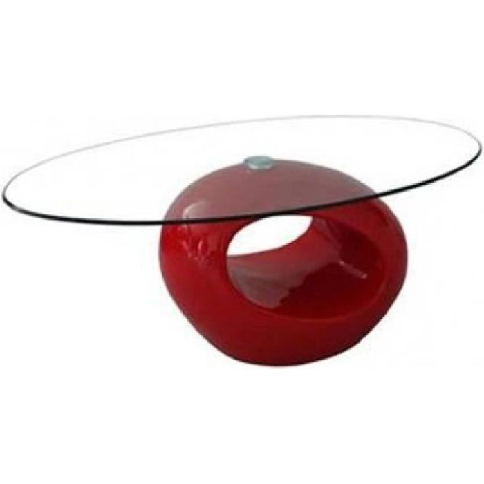 table basse rouge design en verre ovus achat vente table basse table basse rouge design en. Black Bedroom Furniture Sets. Home Design Ideas