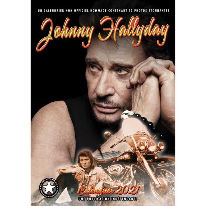 Calendrier 2021 Johnny Hallyday Format A3   Achat / Vente