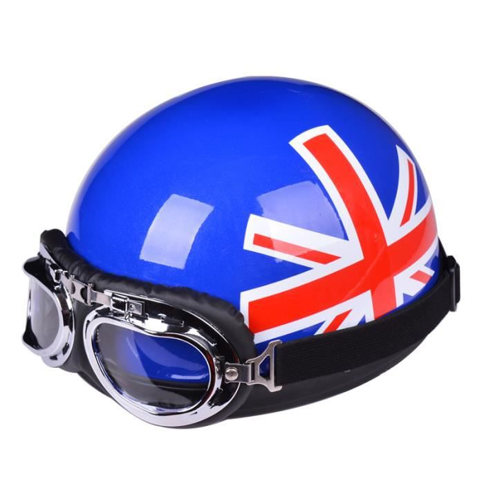 casque bol vintage moto scooter vespa lunettes aviateur u argent achat vente. Black Bedroom Furniture Sets. Home Design Ideas