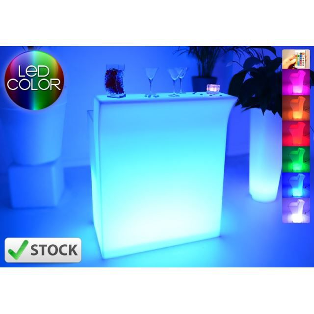 bar lumineux led droit achat vente meuble bar bar lumineux led droit cdiscount. Black Bedroom Furniture Sets. Home Design Ideas