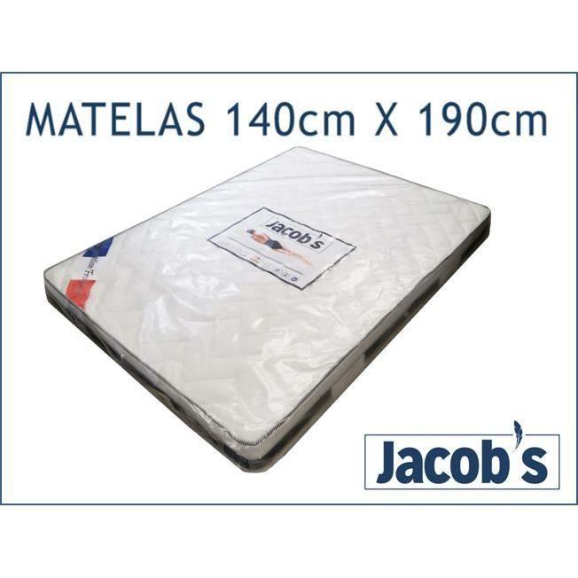 Matelas Jacob S 140x190x20 Achat Vente Matelas Cdiscount