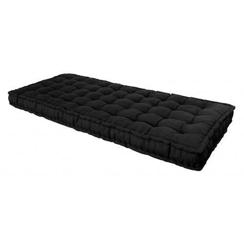 matelas futon noir 90 x 190 cm achat vente matelas cdiscount. Black Bedroom Furniture Sets. Home Design Ideas