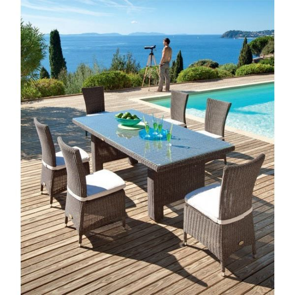 ensemble repas samoa 7 pieces achat vente salon de jardin ensemble repas 7 pieces cdiscount. Black Bedroom Furniture Sets. Home Design Ideas
