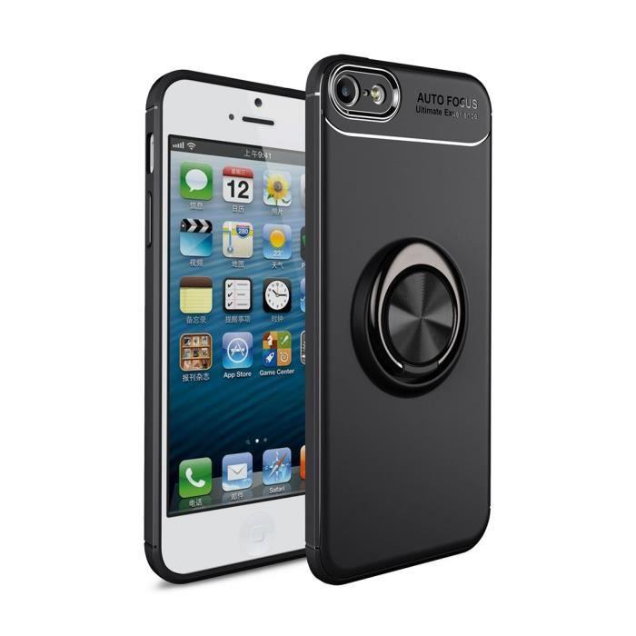 coque iphone 5s se 5 noir 360 rotation bague doigt