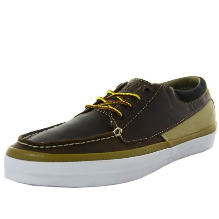 Bateaux Zapato Vans Marron Cuir Homme Chaussures Cobern En dhQtrs