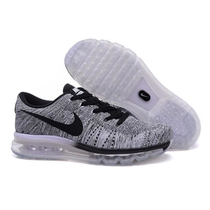 nike flyknit max hommes femmes baskets sport chaussures de course gris noir tu achat vente. Black Bedroom Furniture Sets. Home Design Ideas