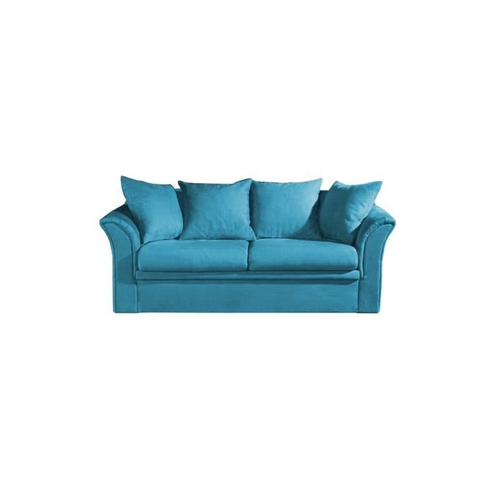 canap lit sofy en microfibre bleu turquoise achat vente canap sofa divan soldes. Black Bedroom Furniture Sets. Home Design Ideas