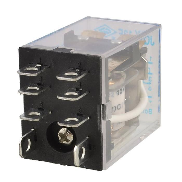 bobine 24V. relais 10A Electronics-Salon Montage sur rail DIN 2 modules dinterface relais de puissance SPDT