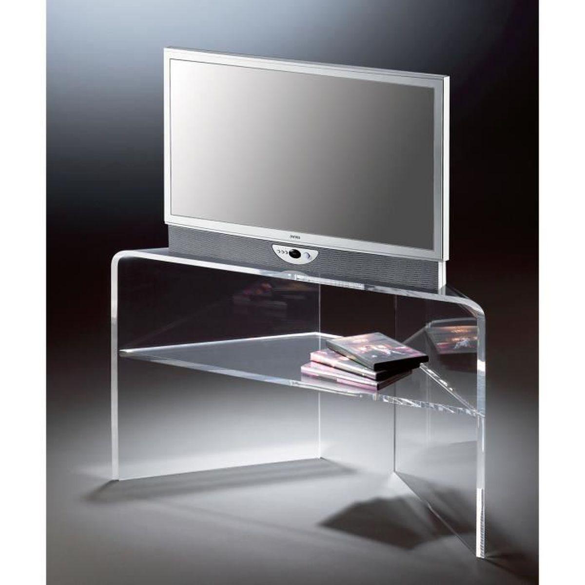 Meuble Haut D Angle Pour Tv console tv d'angle - tv-rack en acrylique haute qualité