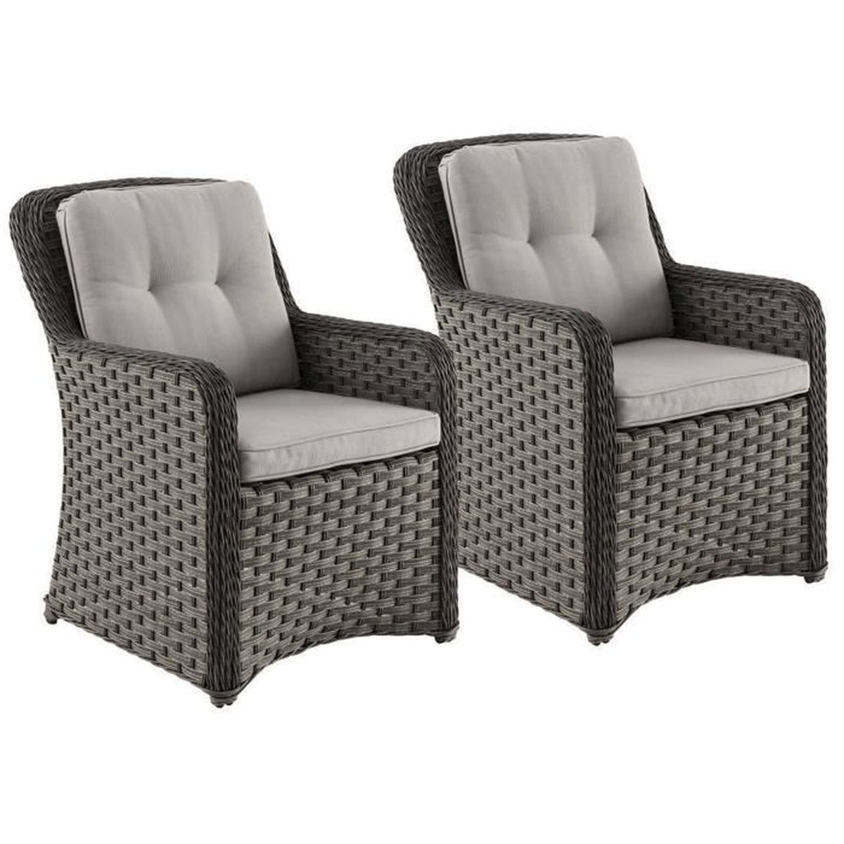 lot de 4 fauteuils de jardin en r sine synth tique tress e. Black Bedroom Furniture Sets. Home Design Ideas