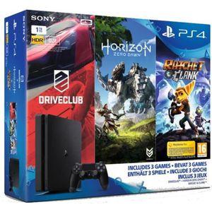 CONSOLE PS4 Nouvelle PS4 Slim 1 To + 3 Jeux : Horizon : Zero D