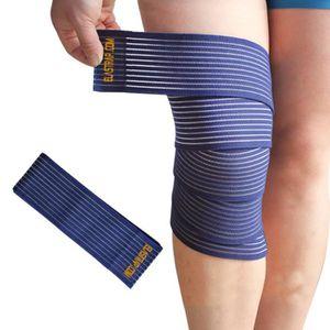 PROTÈGE-GENOU Bande Bandage Genou Strapping élastique à scratch