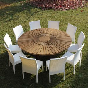 table ronde bois jardin achat vente table ronde bois jardin pas cher cdiscount. Black Bedroom Furniture Sets. Home Design Ideas