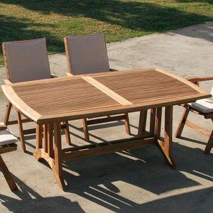 Table de jardin en bois extensible BEGONIA - Achat / Vente ...
