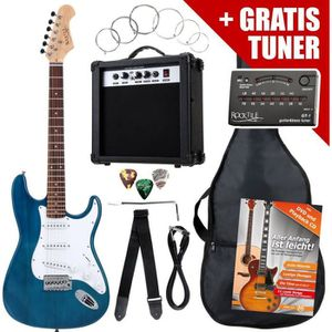 GUITARE Rocktile ST Pack guitare électrique bleu en SET in