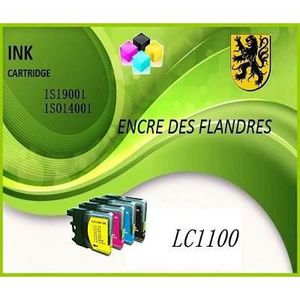 CARTOUCHE IMPRIMANTE Pack 4 compatibbles BROTHER LC1100