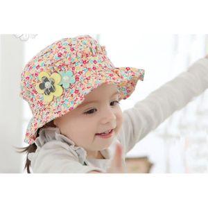 Tour de t/ête 42//52cm ANIMQUE Chapeau de Soleil pour B/éb/é Fille Printemps /Ét/é Fleurs Motif Princesse P/êcheur Chapeau Coton Plage Mignon et Doux 0-4ans