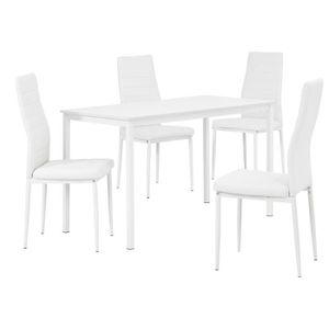 TABLE DE CUISINE  [en.casa]® - Table à manger design avec des chaise