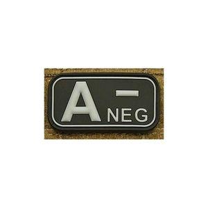 // O NEG Noir Patch PVC Groupe Sanguin O Ecusson
