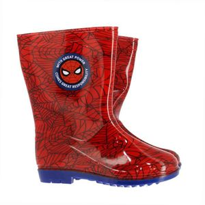 BOTTE SPIDERMAN Bottes de pluie Rouge