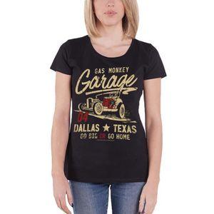 Gas Monkey Garage Go Big Or Go Home T-Shirt Manches Courtes Noir