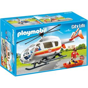 UNIVERS MINIATURE PLAYMOBIL 6686 - City Life - Hélicoptère Médical