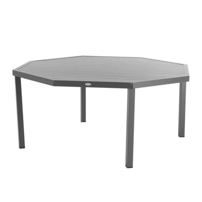 Table octogonale Piazza graphite Hespéride