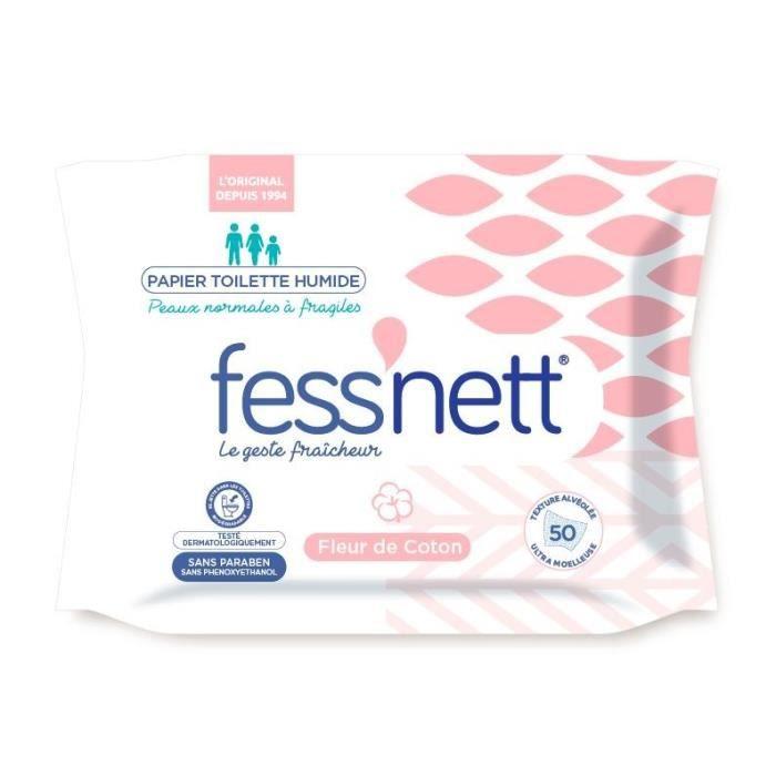 FESS'NETT Papier toilette humide - Fleur de coton