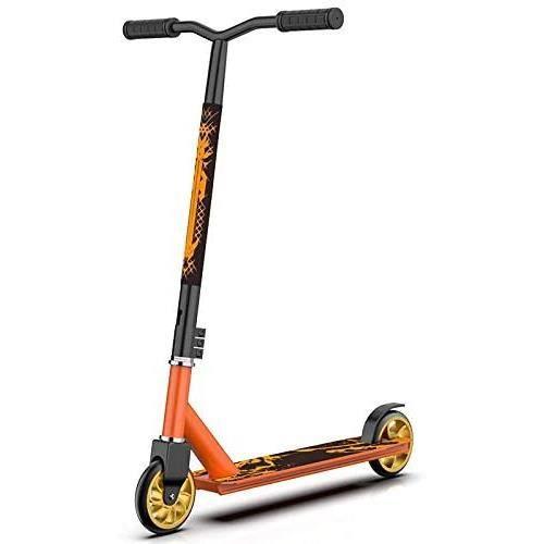 Amacigana® Trottinette Freestyle Adulte et Adolescent - Résistante aux Acrobaties et Sauts - Stunt Scooter Rotatif à 360 Degrés A79