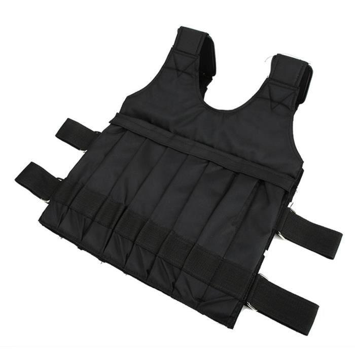 ARAMOX Charge maximale 20kg Gilet lesté Gilet de formation d'exercice de veste/gilet lestés de la charge maximale réglable 20kg
