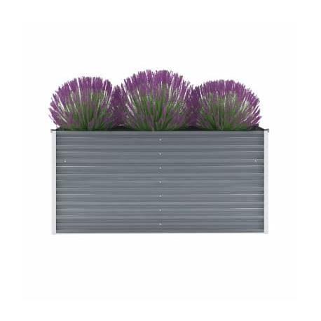Bac à fleurs rectangulaire en acier galvanisé - 160 x 40 x H 77 cm -RUR