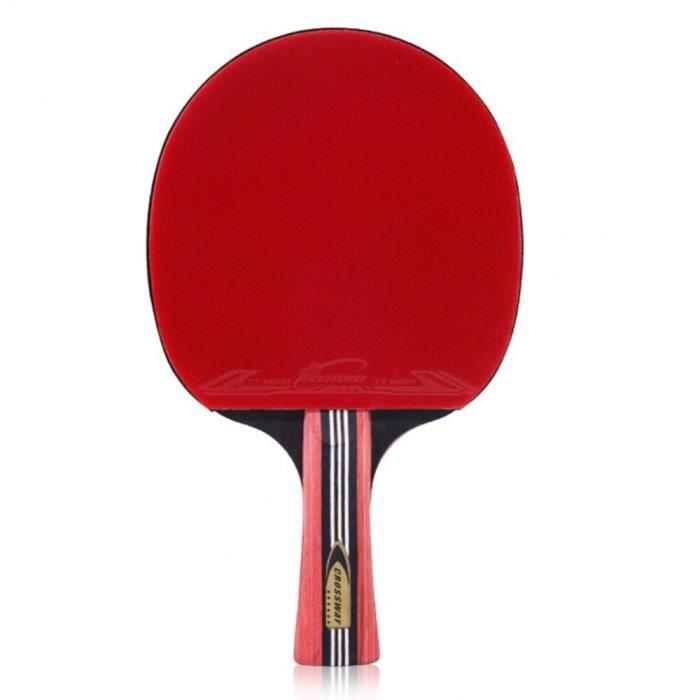 Raquette Ping Pong,Long,No3975,Battes caoutchouc simples balle ping-pong Paddle maître poche raquette Tennis Table ensemble