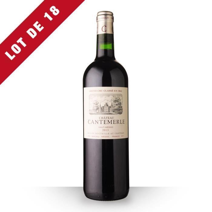 Lot de 18 - Château Cantemerle 2013 AOC Haut-Médoc - 18x75cl - Vin Rouge