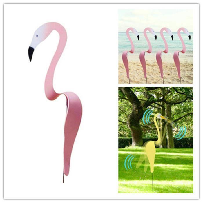 Carillon à vent Flamant Rose décoration de la Cour Ornements de Jardin Flamingo Piscine extérieure Fontaine Art créatif décoration